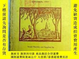 二手書博民逛書店民國舊書《Books罕見of the Month》 每月書刊述評 1931年September 期 1931年9月