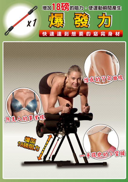 【單售零件】 5mins Shpaer 五分鐘健腹器專用 爆發力阻力器x2條 紅色款 加強重量訓練