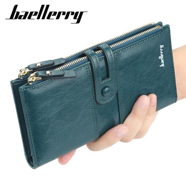 招財錢包女士長款大容量手拿包時尚多卡位錢夾新款ins風簡約 至簡元素