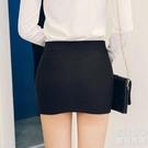夏新款高腰彈力包臀裙半身裙職業包裙性感緊身顯瘦超短 洛小仙女鞋