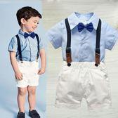 寶寶周歲禮服演出花童套裝男孩嬰兒童男童小西裝英倫夏季帥氣西服 童趣