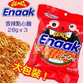韓國 Enaak 香脆點心麵(香辣味) 28gx3包  小雞麵【新高橋藥妝】重量包/增量包