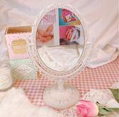 心形宿舍愛心臺式鏡子裝飾桌面少女心粉色桃心化妝梳妝鏡 東京衣櫃