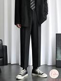 西裝褲男寬松闊腿褲子男生九分休閑夏季垂感西褲【大碼百分百】
