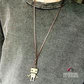 項?項鏈男簡約禮物個性日韓吊墜潮人時尚長款歐美百搭掛件學生配飾品毛衣? 交換禮物