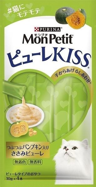 *KING WANG*日本MonPetit貓倍麗》Puree Kiss小鮮肉泥10g*4條/包 似ciao