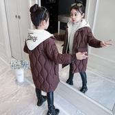 加絨中長款潮流夾克兒童裝棉服 女孩棉襖保暖百搭女童外套 洋氣秋冬羽絨服 中大童韓版外套