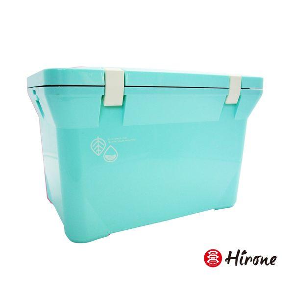 【日本Hirone】日本製-繽紛假日-便攜式大容量戶外冰桶-15公升-粉末藍