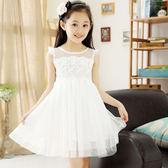 兒童洋裝—女童連身裙夏裝新款中大童裝韓版兒童夏季洋氣白色公主紗裙子 依夏嚴選
