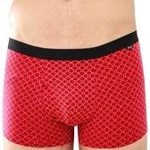 SOLIS-夢想之網系列M-XXL天絲棉前開口貼身四角褲(酒紅色)