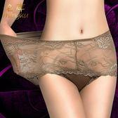 內褲 3條裝 內褲女 性感透明蕾絲 彈性很好 高腰大碼女士三角內褲名庫 韓先生