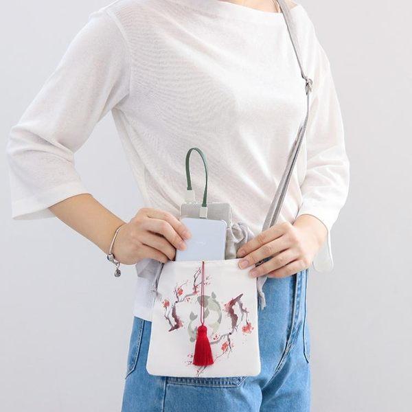 復古風手機包女新款小包豎夏天迷你少女心單肩斜背包裝零錢包 快速出貨