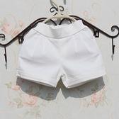 韓版2021春夏新品百搭沙灘褲短褲西褲女童短褲白色短褲 親子裝 幸福第一站