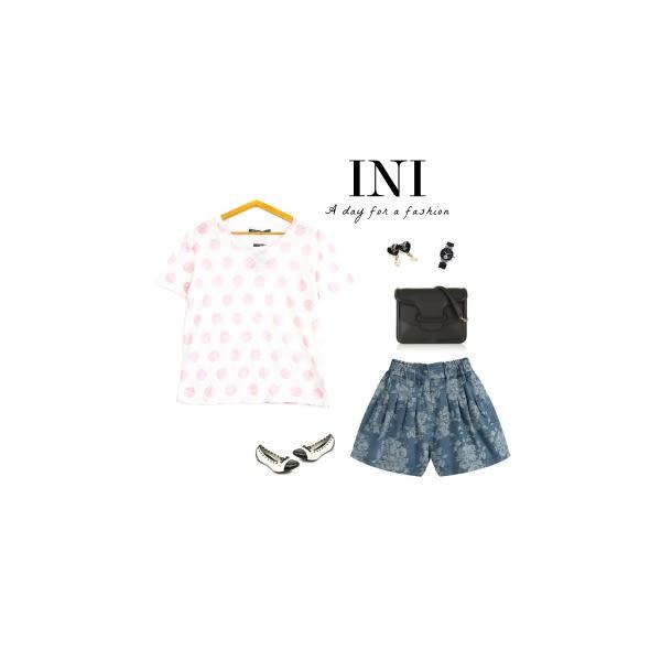 【INI】質感加分、進口透氣舒適竹節棉點點上衣.粉色
