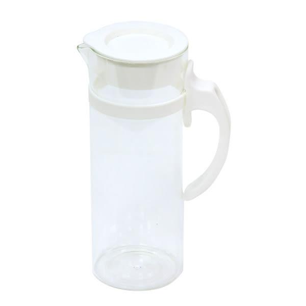 耐熱玻璃水壺 1L 86230 白 NITORI宜得利家居