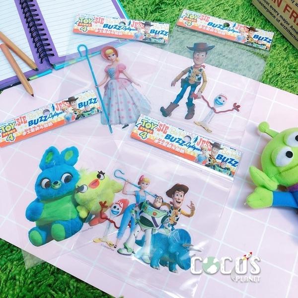 迪士尼 玩具總動員4 胡迪叉奇 透明貼 壁貼 玻璃貼 防水機車貼 COCOS TS030