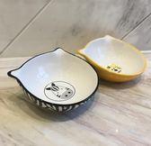 ELITE 高品質陶瓷寵物碗 寵物狗食盆/貓碗 可愛貓咪扁臉貓碗 【限時八五折】