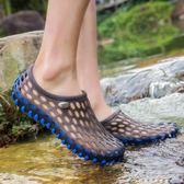 新款韓版洞洞鞋男沙灘鞋男輕便外穿拖鞋男透氣鞋子男涼鞋 黛尼時尚精品