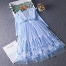 兒童禮服 愛莎公主裙女童連衣裙愛沙艾沙公主裙兒童秋裝長袖禮服【快速出貨八折鉅惠】