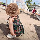 女嬰連身裙吊帶洋氣純棉碎花女嬰童夏季新款