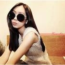 《花花創意会社》【H1100】韓組vintage金屬大圓形黑框複古墨鏡