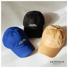 Catworld 簡約文字刺繡棒球帽【18003480】‧F
