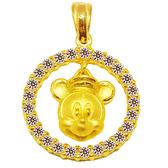迪士尼系列金飾-黃金墜子-圓滿米奇款