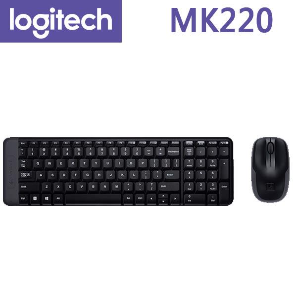 【免運費-限量】Logitech 羅技 MK220 無線鍵盤滑鼠組