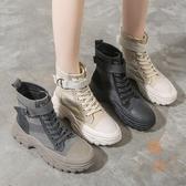 馬丁靴女鞋英倫風顯瘦帥氣厚底百搭短靴子【橘社小鎮】