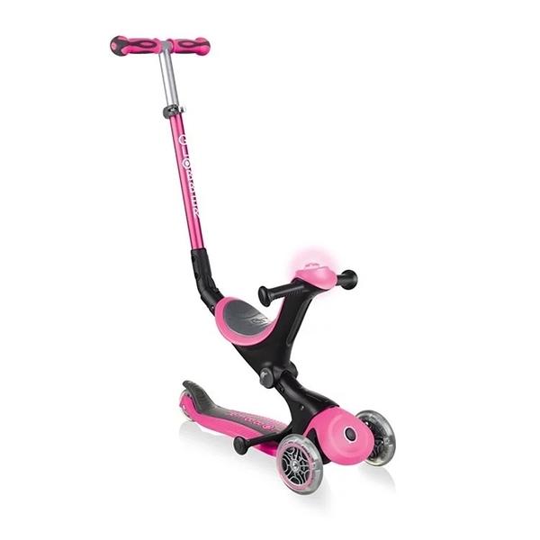 Globber 哥輪步 GO•UP 5合1豪華版滑板車(聲光版)-繽紛桃[衛立兒生活館]