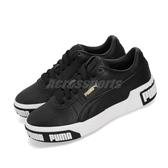 Puma 休閒鞋 Cali Bold Wns 黑 白 皮革 大LOGO 女鞋 運動鞋【PUMP306】 37081103