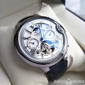 手錶時尚潮男士錶2019款皮帶偏藍光陀飛輪手錶男氣球全自動機械錶 聖誕交換禮物