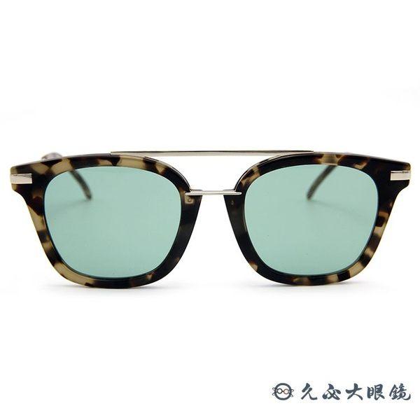 FENDI 墨鏡 貓眼 雙槓 太陽眼鏡 FF0224FS 2IKQT 琥珀 久必大眼鏡