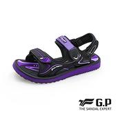 G.P(女)高彈力舒適兩用涼拖鞋 女鞋-紫(另有黑.黑桃)