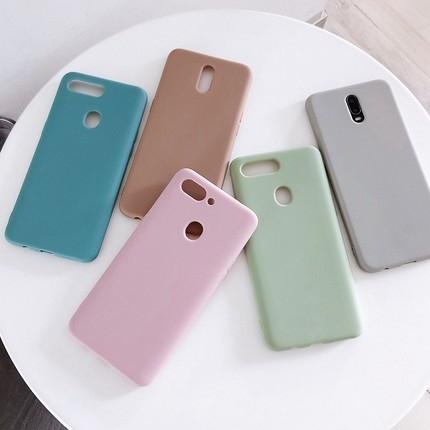歐珀 R11/R11s Plus 簡約純色手機殼OPPO R15/R17 Pro 抹茶綠灰色粉潮手機套 R11/R11s 全包防摔保護套