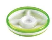 美國OXO tot 幼兒學習防滑四格分隔餐盤-綠色