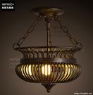INPHIC- 美式個性復古懷舊籠子半吸頂燈鄉村客廳餐廳藝術鳥籠鐵藝燈_S197C
