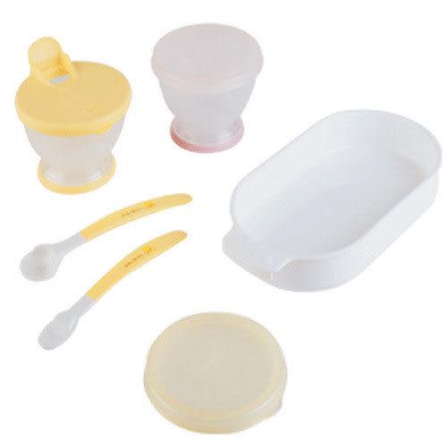 【奇買親子購物網】黃色小鴨離乳餐具組