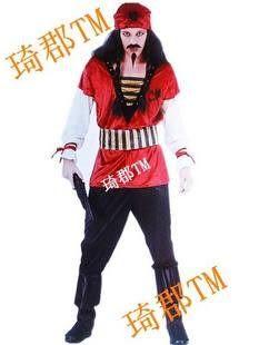 COS萬聖節 主題服裝 加勒比海盜 紅色傑克船長