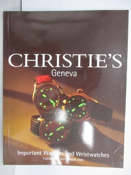 【書寶二手書T9/收藏_EPF】Christie s_Important Watches and…2001/11/13