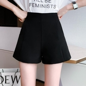 雪紡短褲 女夏2020年新款超高腰a字雪紡黑色寬鬆闊腿顯瘦西裝外穿白色 JX3138『優童屋』