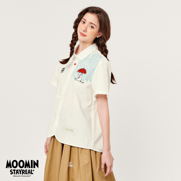 STAYREAL x MOOMIN 為你撐傘短袖襯衫
