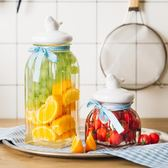創意玻璃儲物罐有蓋零食干果茶葉雜糧糖果食品密封儲蓄罐子小瓶 鉅惠兩天【限時八五折】