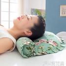枕頭粗布蕎麥殼枕頭成人護頸椎枕修復枕芯純蕎麥皮枕頭全蕎麥頸椎 JRM簡而美