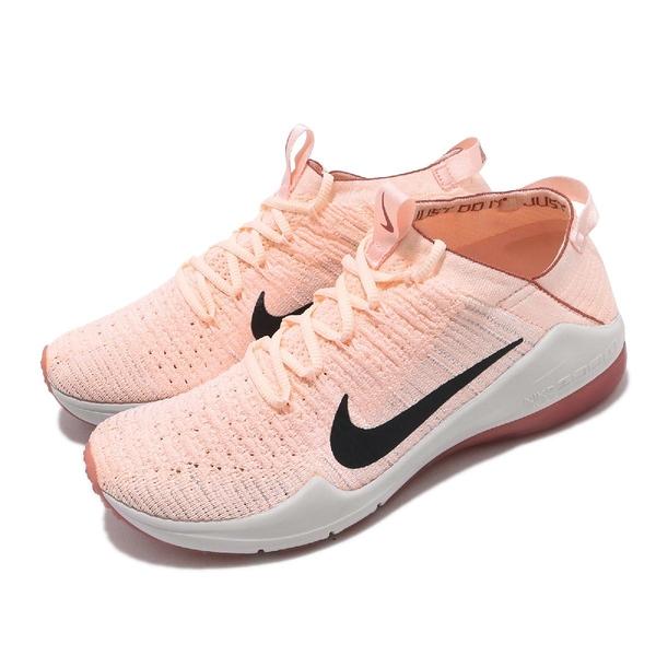 【六折特賣】Nike 訓練鞋 Wmns Air Zoom Fearless FK 2 粉紅 灰 女鞋 飛線編織 運動鞋 【PUMP306】 AA1214-606
