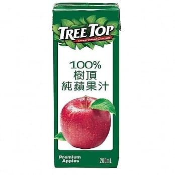 樹頂100%純蘋果汁200ml 6入/組【合迷雅好物超級商城】