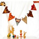Qmishop 卡通動物三角旗 牆壁裝飾...