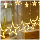 《不囉唆》聖誕-滿天星窗簾燈 聖誕裝飾/...