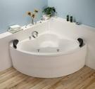 【麗室衛浴】BATHTUB WORLD 扇形空缸 W-CH-3106-B 含前牆 130*130*54CM