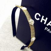 水晶髮圈(任兩件)-華麗炫彩金蔥設計女髮箍2色73gi45[時尚巴黎]